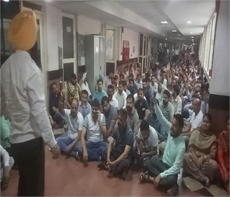 jalandhar municipal corporation employees strike