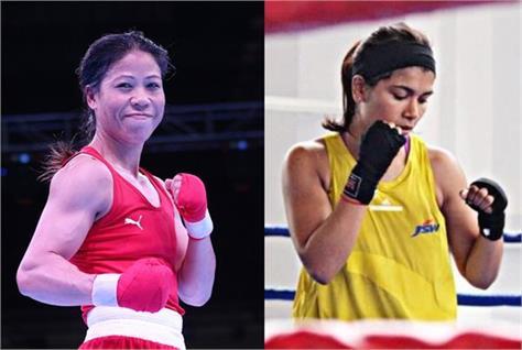 nikhat zareen shoots letter to kiren rijiju demands trail bout against mary kom