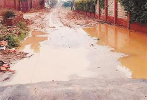 due to the sewerage being found  the road