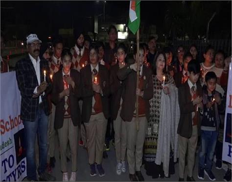 amritsar candle march students tophill school dalhousie