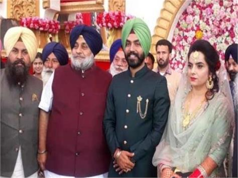 sukhbir also blesses the   aap couple