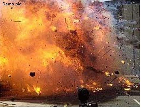 strong blast in ambala city