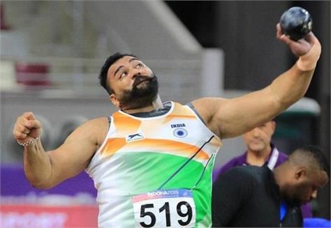 tajinder singh toor bagging gold medal in asian athletics championships 2019