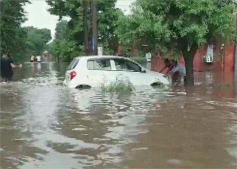 heavy rain in ambala