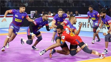 pro kabaddi league  delhi beat up yoddha 36 27