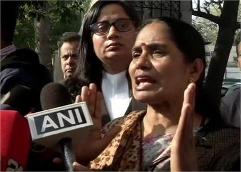 guilty execution nirbhaya mother court protest