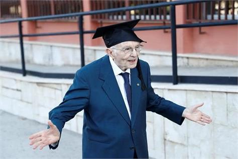 italy  96 years old  graduate