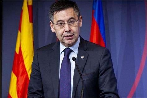 barcelona  club president  josep bartomeu  resigned