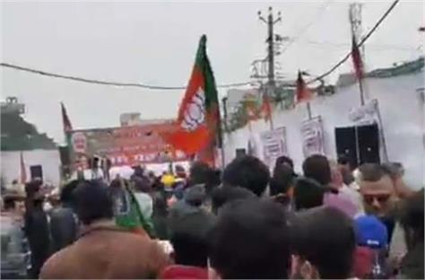 farmers protest company bagh chowk