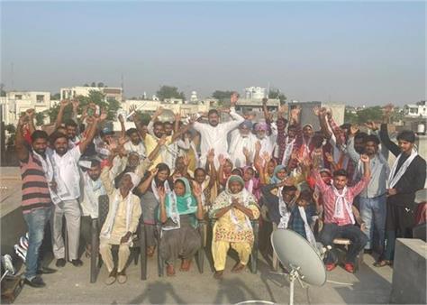 shamindar zira  protest  aap  government
