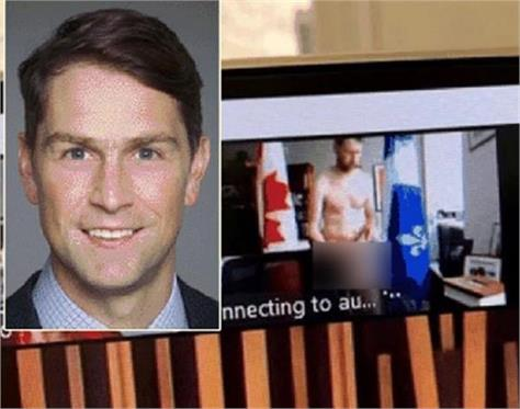video conferencing naked canadian mp