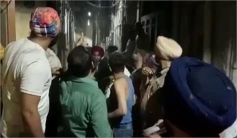 amritsar  alcohol husband wife anger house fire